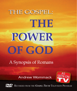 The Gospel: The Power Of God